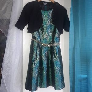 Girls Holiday Dress with Jacket